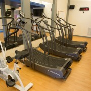 Airdyne bikes and Woodway Curve treadmills